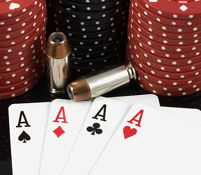 High Stakes Poker Art Print by Al  Mueller