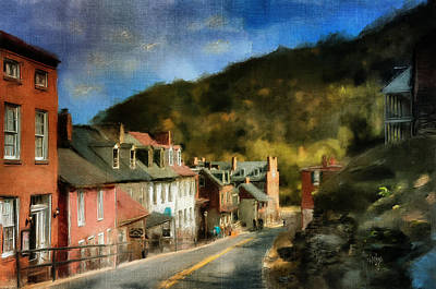 High Street In The Early Evening Art Print