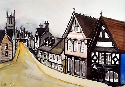 Painting - High Street Of Stamford In England by Dora Hathazi Mendes