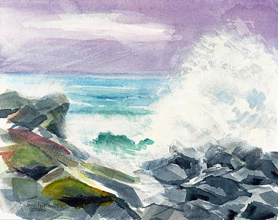 Painting - High Surf by Joan Hartenstein