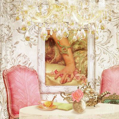 Silver Tea Pot Painting - High Tea At Hotel Paris Circa 1900 Paris France by Tina Lavoie
