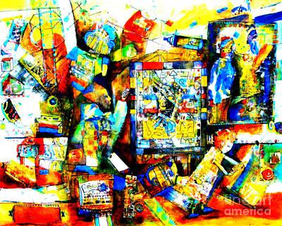 High Tech Rules Art Print by Claire Sallenger Martin