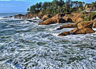 Photograph - High Tide At Arch Rock by Thom Zehrfeld