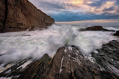 Photograph - High Tide At Bald Head Cliff by Rick Berk