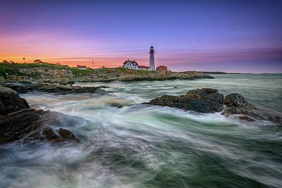 Photograph - High Tide At Portland Head Lighthouse by Rick Berk