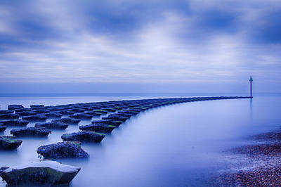 Photograph - High Tide At The Breakwater 1 by Leah Palmer