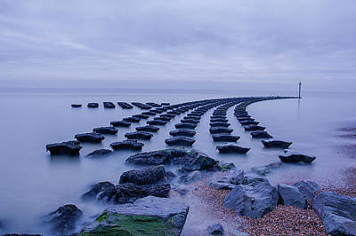 Photograph - High Tide At The Breakwater 2 by Leah Palmer