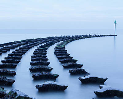 Photograph - High Tide At The Breakwater 3 by Leah Palmer