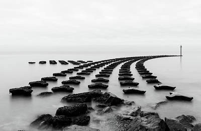 Photograph - High Tide At The Breakwater 5 by Leah Palmer