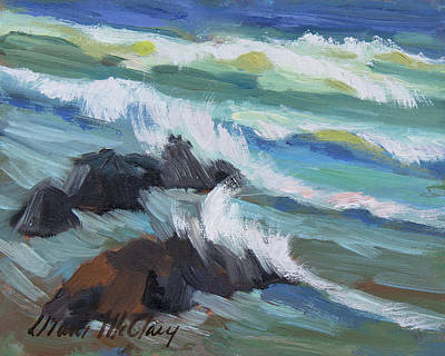 Painting - High Tide Baja by Diane McClary