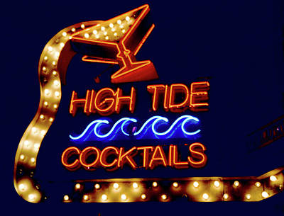 Print featuring the photograph High Tide Cocktails by Matthew Bamberg