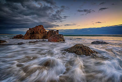 Photograph - High Tide On Marginal Way by Rick Berk