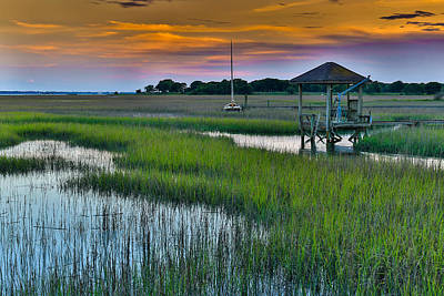 Photograph - High Tide On The Creek - Mt. Pleasant Sc by Donnie Whitaker