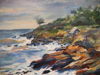 Turbulence Painting - High Tide by Pati Maguire