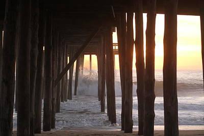 Photograph - High Tide Under The Pier by Robert Banach
