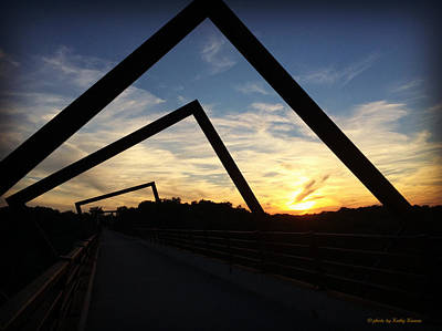 Photograph - High Trestle Trail Sunset by Kathy M Krause