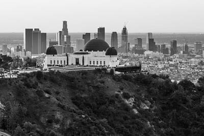 High View Of Griffith Observatory And La Art Print by John McGraw