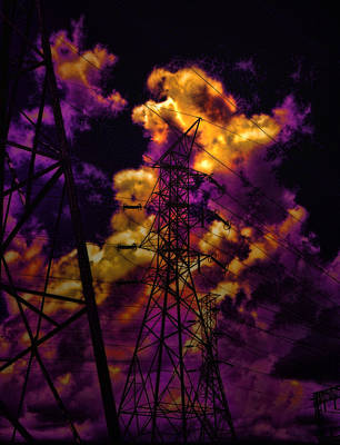 Light And Dark Photograph - High Voltage by Marcie  Adams