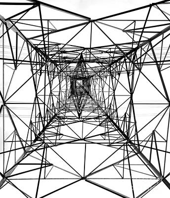High Voltage Power Mast Art Print