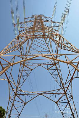 Energy Photograph - High Voltage Pylon by George Atsametakis