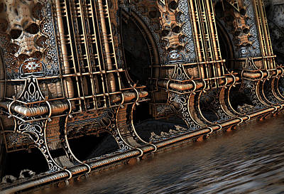 Digital Art - High Water by Hal Tenny