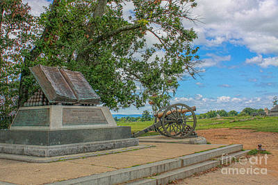 High Water Mark Of The Rebellion Monument Gettysburg Art Print by Randy Steele