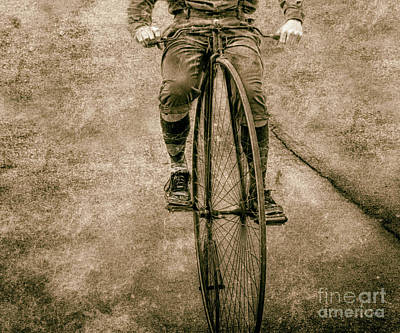 Penny Farthing Photograph - High Wheeling In Vintage Time  by Steven Digman