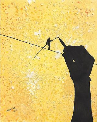 Painting - High Wire Artist by Edwin Alverio