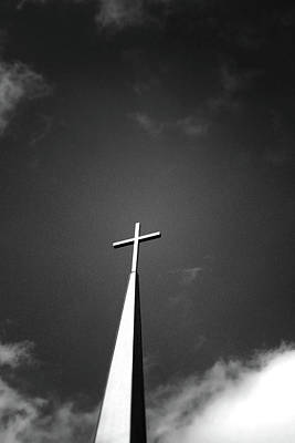 Church Photograph - Higher To Heaven - Black And White Photography By Linda Woods by Linda Woods