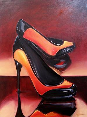 Highered Heels Art Print by Yvonne Dagger