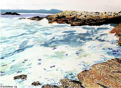 Painting - Highest Point, Vancouver Island by David Skrypnyk