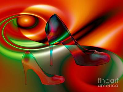 Highheels Red And Green Art Print