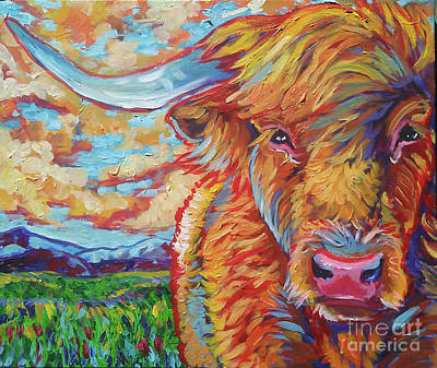 Highland Breeze Art Print by Jenn Cunningham