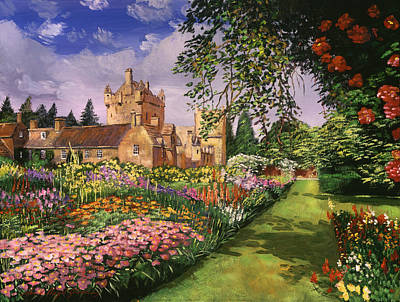 Bed Painting - Highland Cawdor Castle by David Lloyd Glover