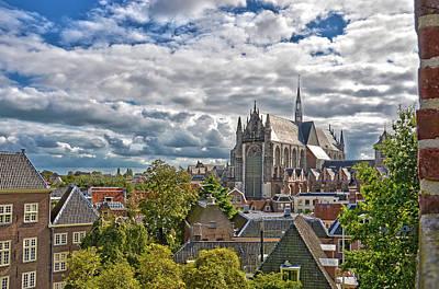 Highland Church Seen From Leiden Castle Art Print