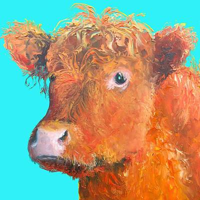 Country Cottage Painting - Highland Cow Painting by Jan Matson