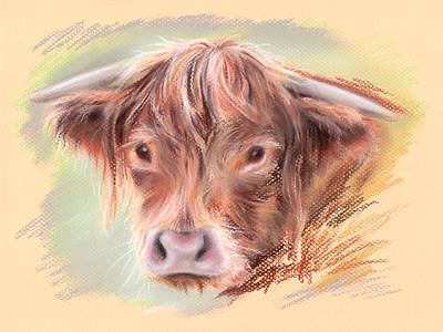 Pastel - Highland Cow Pastel by MM Anderson