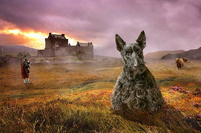 Scottish Dog Digital Art - Highland Heritage by Susan Carter