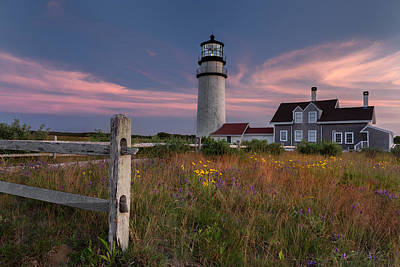 Fence Photograph - Highland Light Cape Cod 2015 by Bill Wakeley