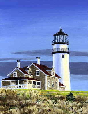 New England Lighthouse Painting - Highland Light by Paul Gardner