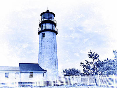 Photograph - Highland Lighthouse Cape Cod Blue by Marianne Campolongo