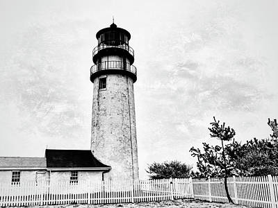 Photograph - Highland Lighthouse Cape Cod Bw by Marianne Campolongo