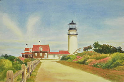 Cape Cod Painting - Highland Lighthouse Cape Cod by Phyllis Tarlow