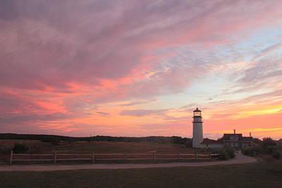Photograph - Highland Lighthouse Cape Cod Sunset by John Burk
