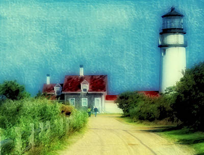 Highland Lighthouse II Art Print by Gina Cormier
