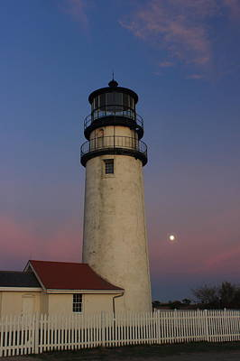 Photograph - Highland Lighthouse Moon by John Burk