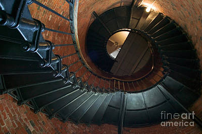 Highland Lighthouse Stairs Cape Cod Print by Matt Suess