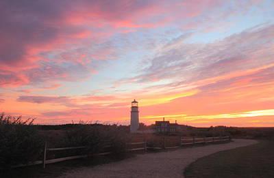 Photograph - Highland Lighthouse Sunset by John Burk