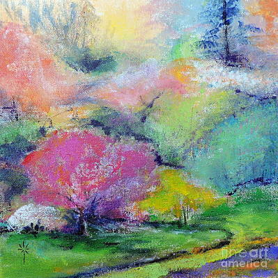 Painting - Highland Park In Spring by Jodie Marie Anne Richardson Traugott          aka jm-ART