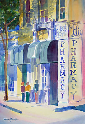 Painting - Highland Park Pharmacy by Liana Yarckin